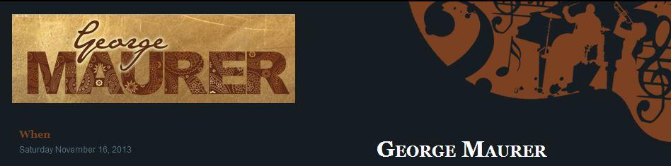 George Maurer | Special House Concert | Nov 16