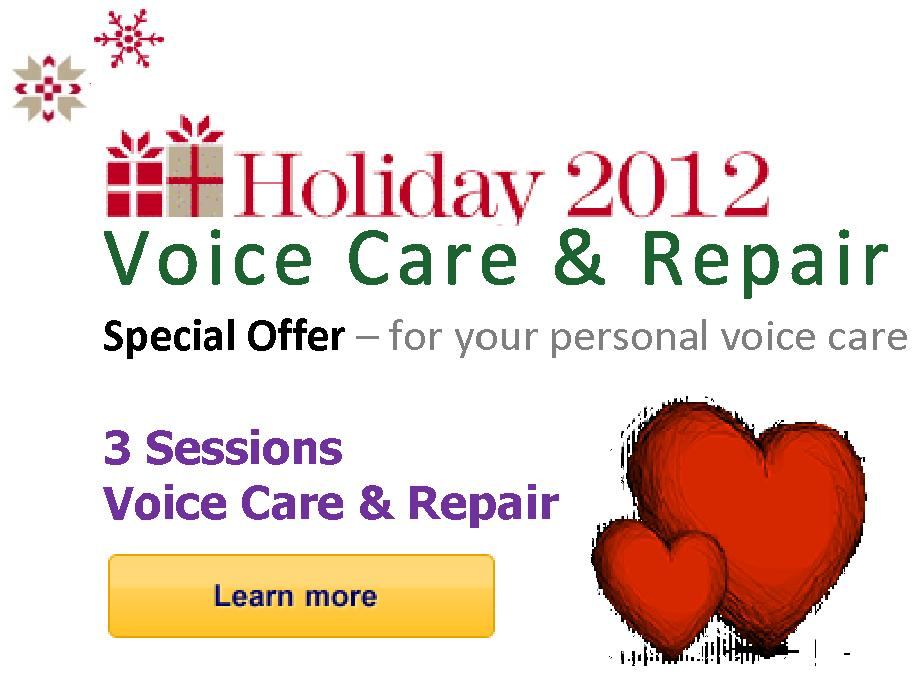 Holiday 2012 - Voice Care & Repair - Special Offer