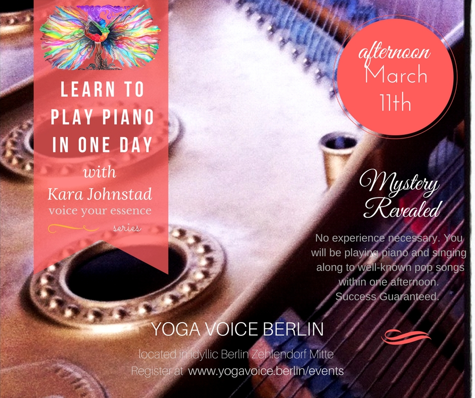 Learn to PLAY PIANO in ONE DAY with singer-songwriter Kara Johnstad on March 11, 2017